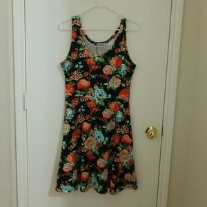 Fit and Flare Dress Floral